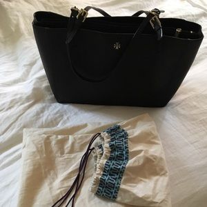 Tory Burch large buckle tote.